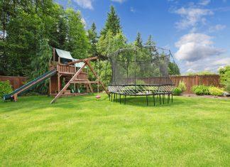 eenvoudige achtertuin