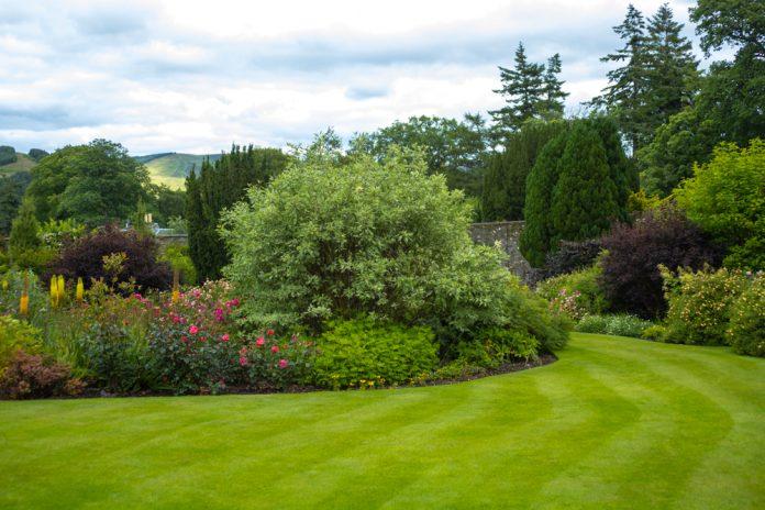 grote omheinde tuin